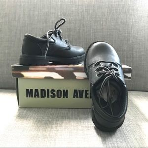 Other - NIB Madison Avenue Boys' Black Lace-up Dress Shoes